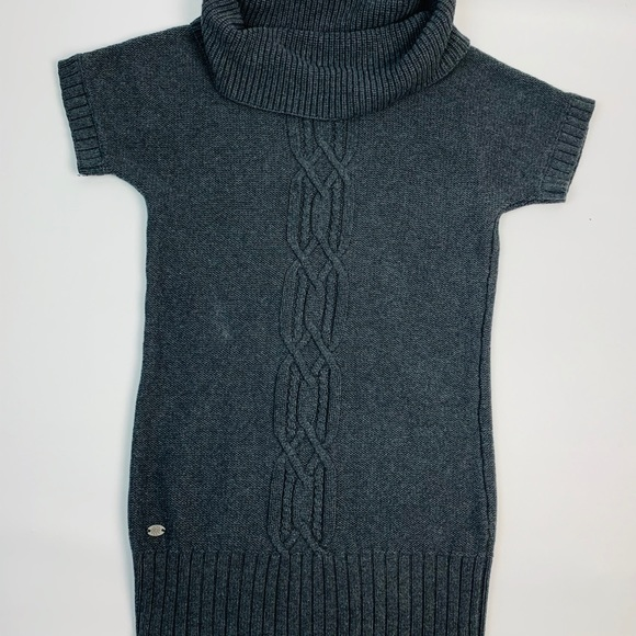 Athleta Turtle Neck Cowl Neck Cable Knit Sweater